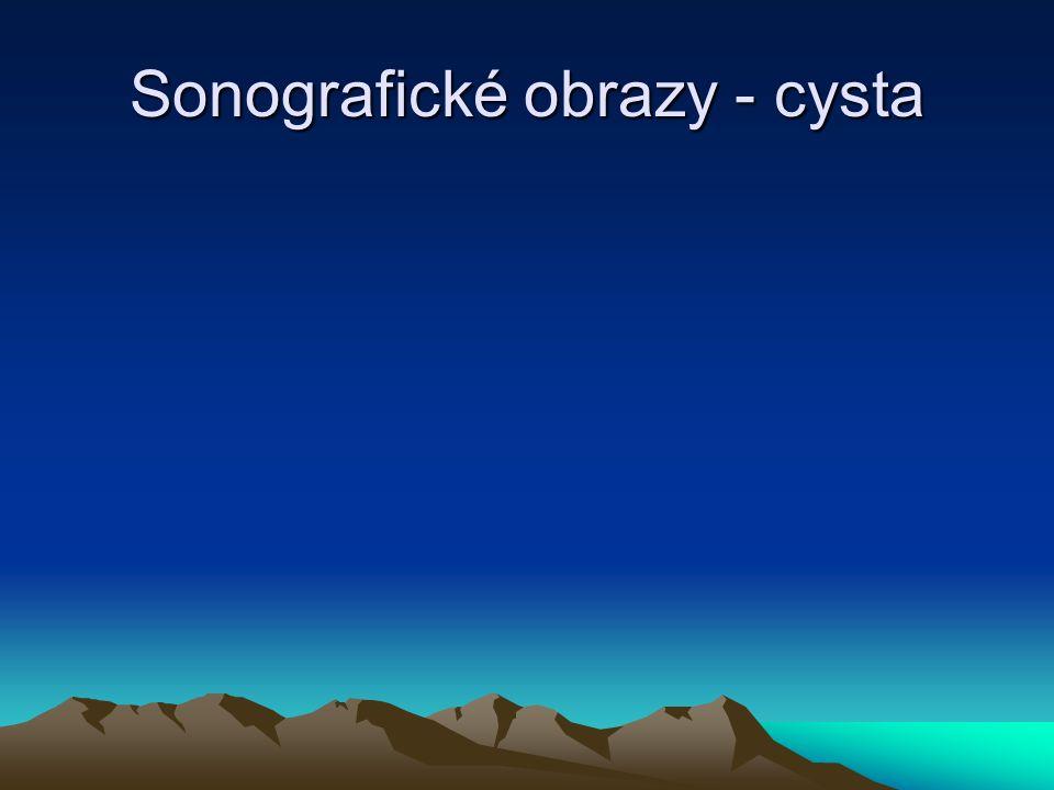 Sonografické obrazy - cysta