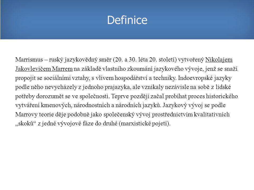 Marrismus – ruský jazykovědný směr (20.a 30. léta 20.