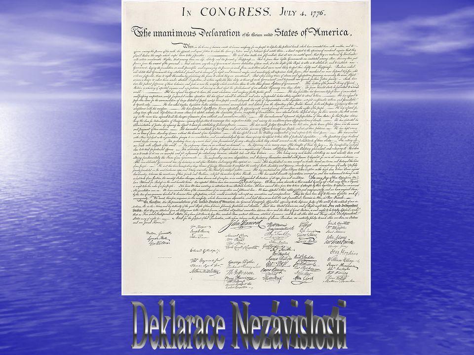 Anglický král se rozhodl potlačit odpor v koloniích.Zástupci osadníků svolali v roce 1774 kongres všech kolonií.Kongres rozhodl že vytvoří vojsko z do