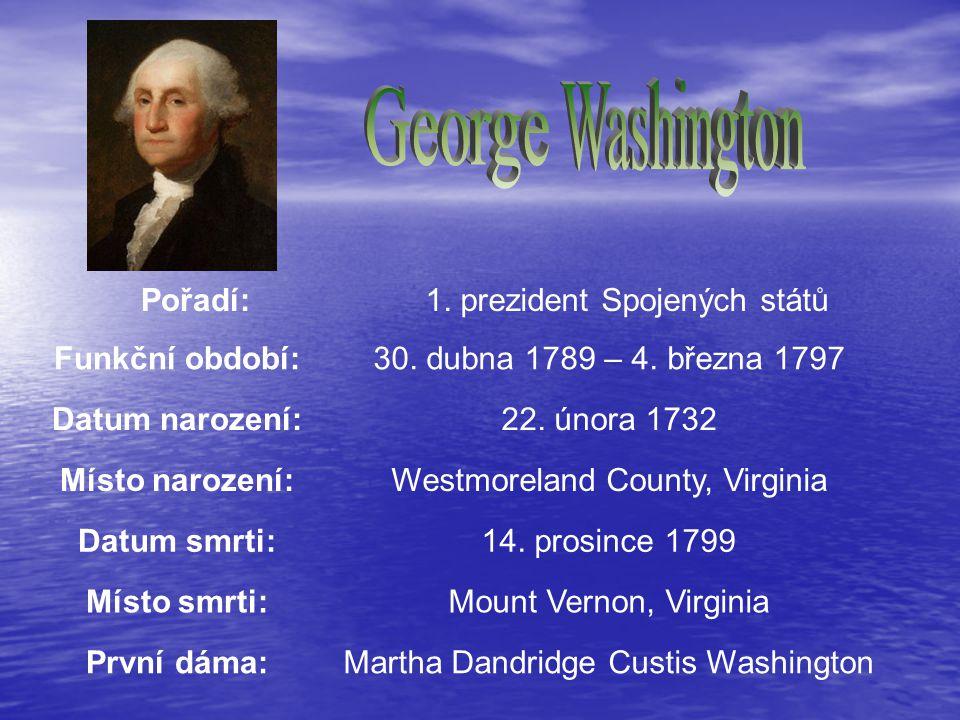 Pořadí: 1.prezident Spojených států Funkční období:30.