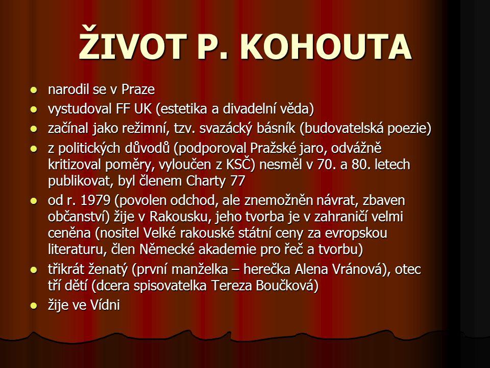 KOHOUTOVO DÍLO - PRÓZA Katyně – tzv.