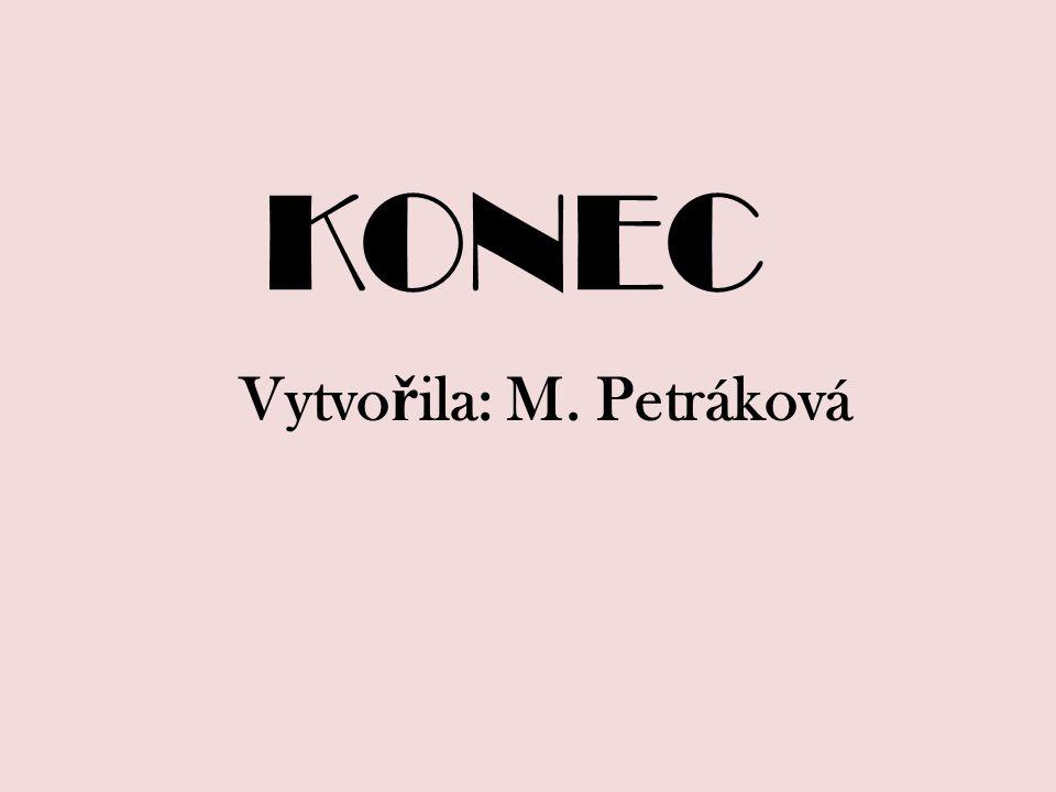 KONEC Vytvo ř ila: M. Petráková
