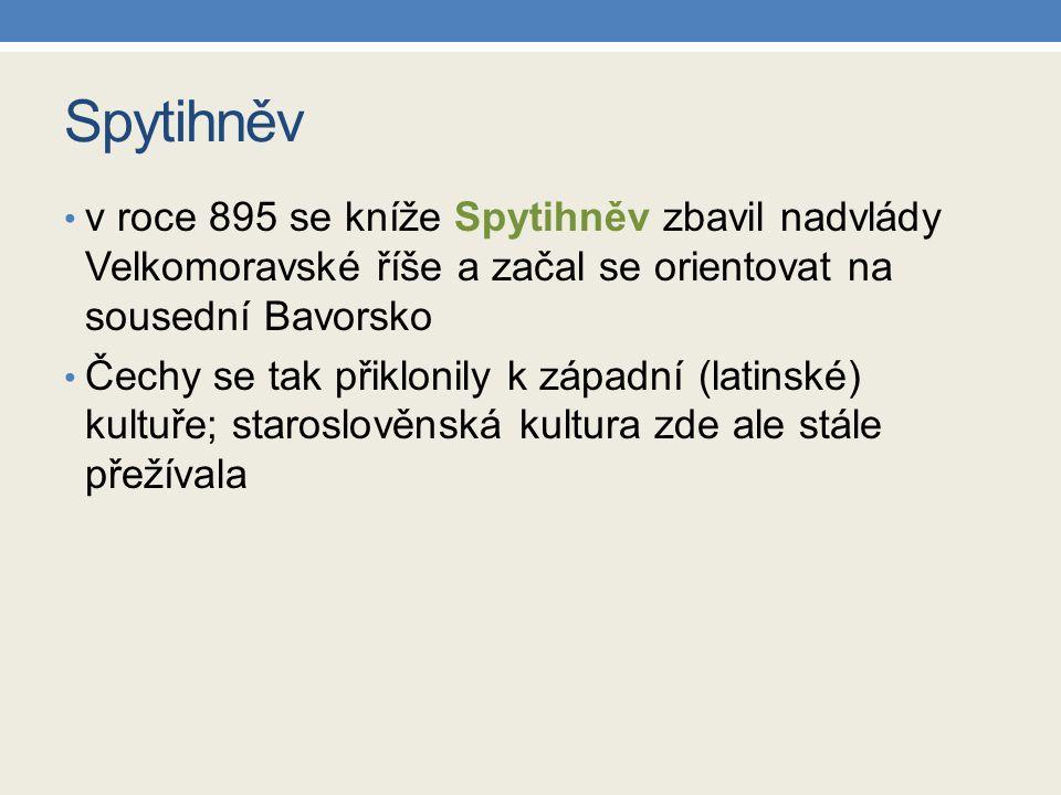Vratislav I.byl Spytihněvův mladší bratr zakládal křesťanské kostely; založil mj.