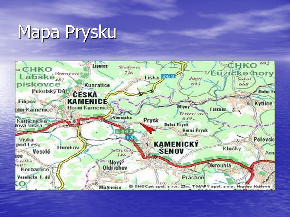 Mapa Prysku