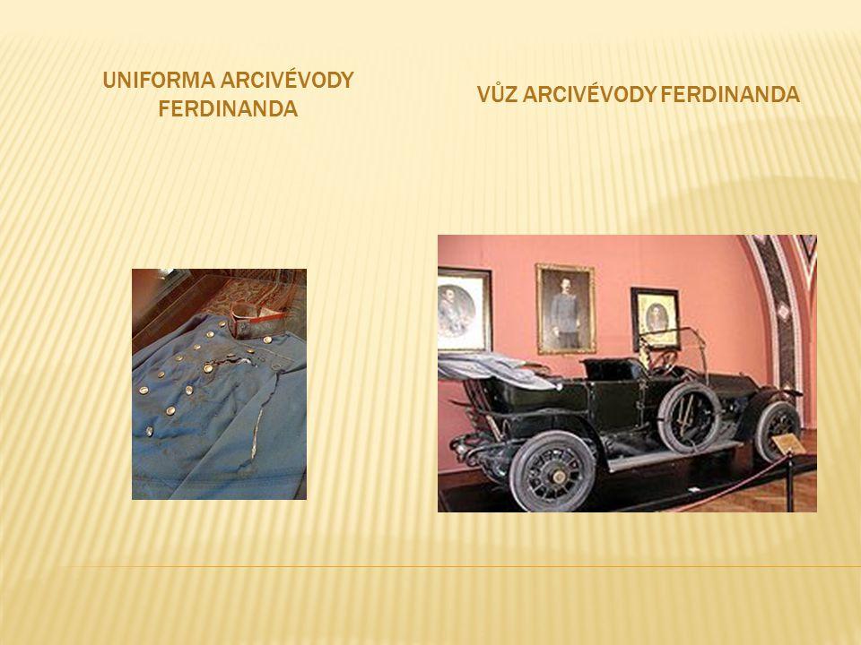 UNIFORMA ARCIVÉVODY FERDINANDA VŮZ ARCIVÉVODY FERDINANDA