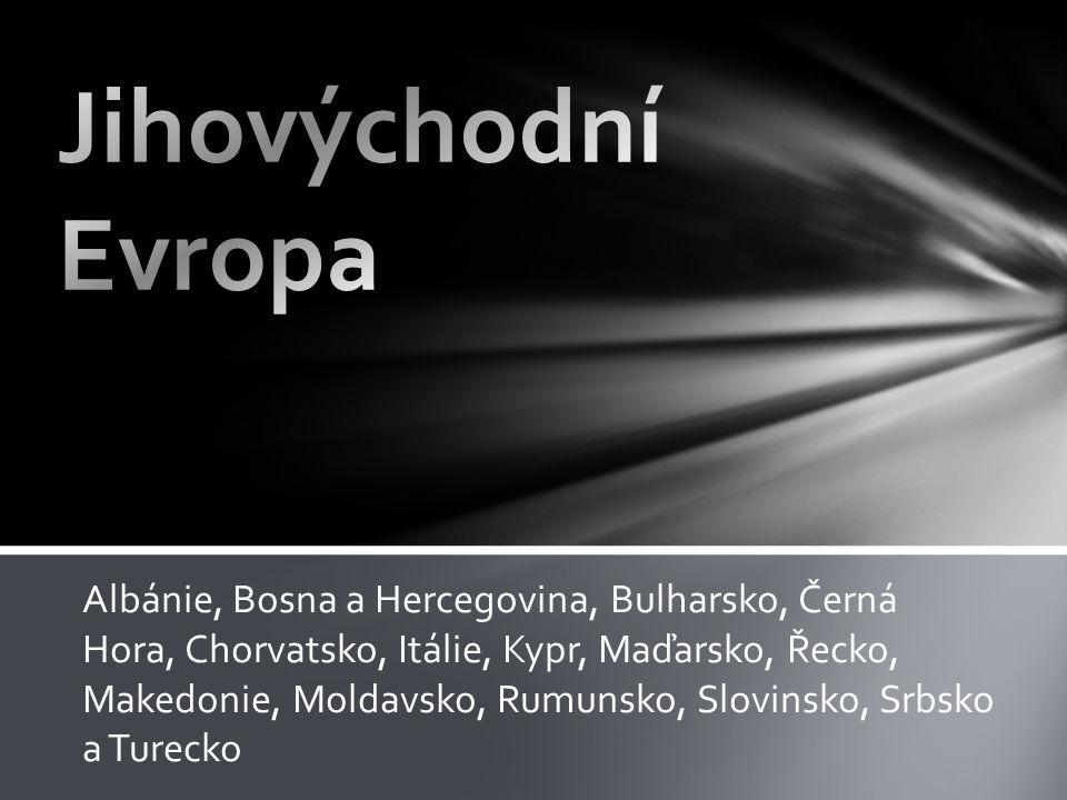 Albánie, Bosna a Hercegovina, Bulharsko, Černá Hora, Chorvatsko, Itálie, Kypr, Maďarsko, Řecko, Makedonie, Moldavsko, Rumunsko, Slovinsko, Srbsko a Tu