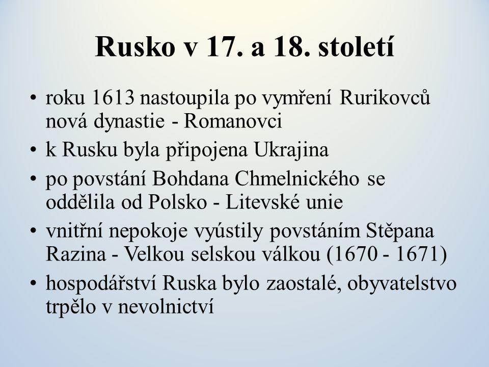 Rusko v 17.a 18.