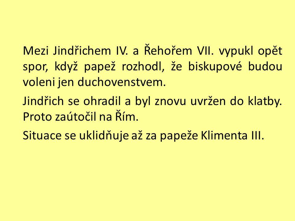 Mezi Jindřichem IV.a Řehořem VII.