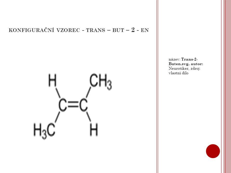 KONFIGURAČNÍ VZOREC - TRANS – BUT – 2 - EN název: Trans-2- Buten.svg, autor: Neurotiker, zdroj: vlastní dílo