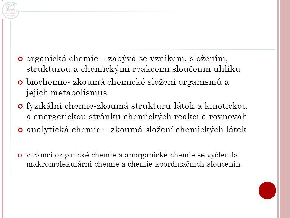 O BECNÁ CHEMIE chemické látky dělíme na chemické prvky a na chemické sloučeniny chemický prvek - má chemickou značku (jednopísmennou nebo dvoupísmennou) a název (český nebo latinský) příklady: značka udává a) chem.prvek, b) 1 atom prvku, c) 1mol atomů prvku kromě značky prvku může mít prvek i vzorec např.: