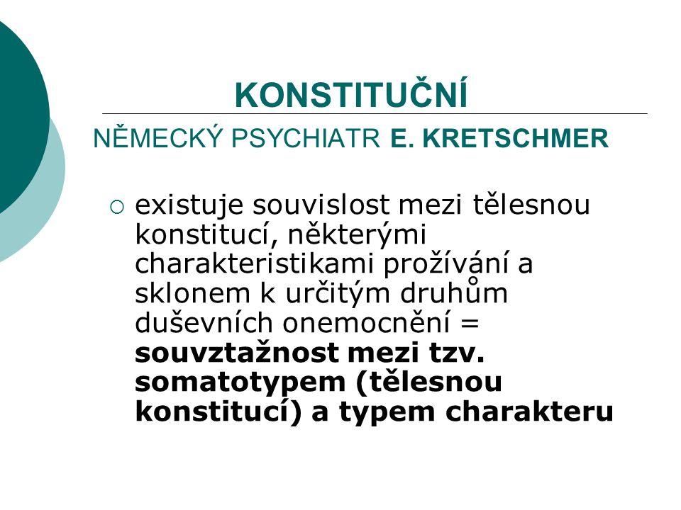 KONSTITUČNÍ NĚMECKÝ PSYCHIATR E.