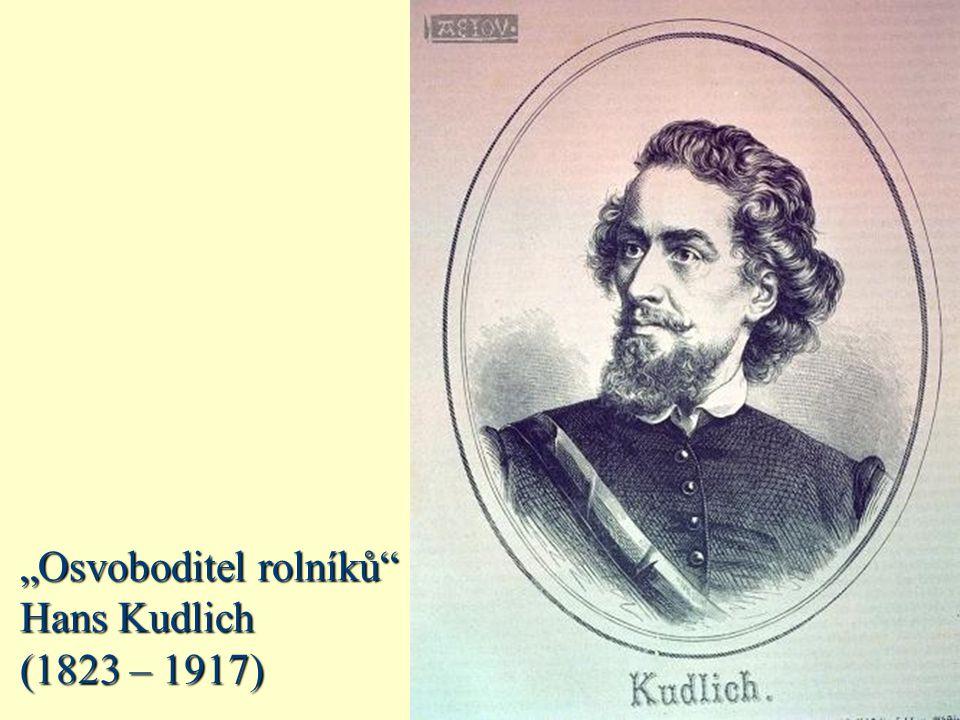 """""""Osvoboditel rolníků"""" Hans Kudlich (1823 – 1917)"""