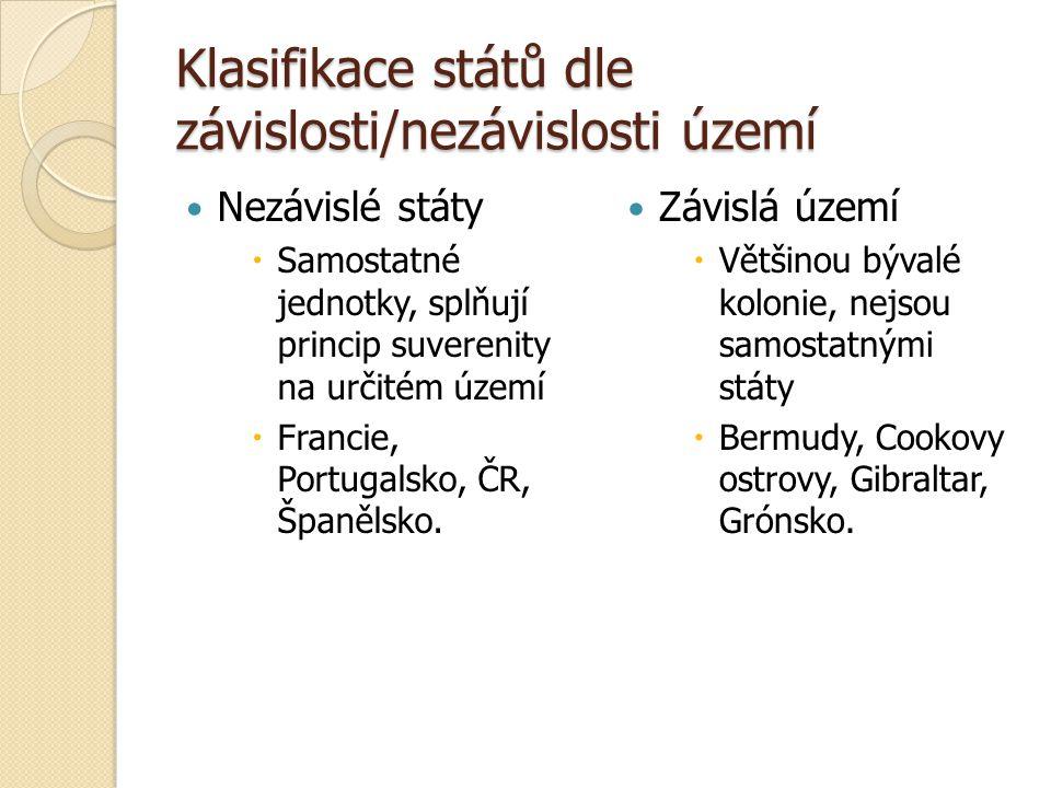 Klasifikace dle vnitřního uspořádání Federace  Složený stát, členy federace se označují různě (kantony, státy, země, republiky)  Rakousko, Švýcarsko, Indie.
