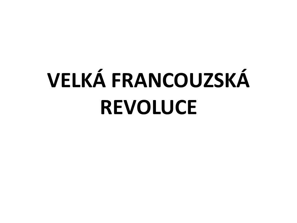 Příčiny revoluce zjistěte, kdo vládl v letech 1789 – 1815 v habsburské monarchii, ve VB, Prusku, Rusku, Francii tři stavy – šlechta, duchovenstvo, měšťanstvo = třetí stav třetí stav platil daně a desátky hospodářské problémy třetí stav se v červnu 1789 prohlásil Národním shromážděním – Ústavodárným 14.