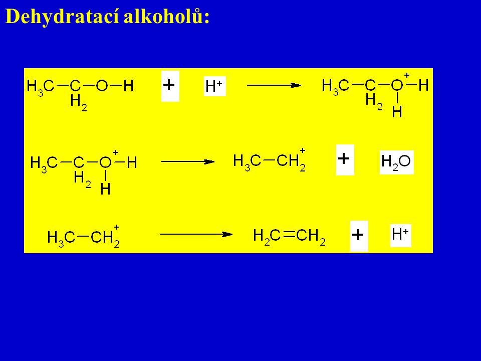 Dehydratací alkoholů: