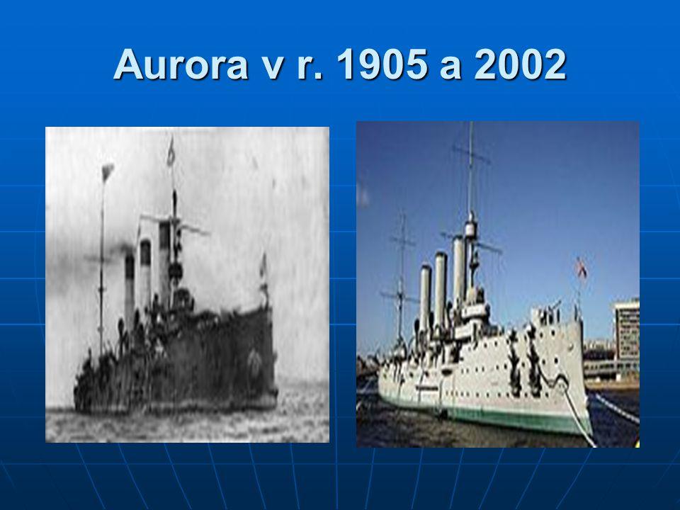 Aurora v r. 1905 a 2002