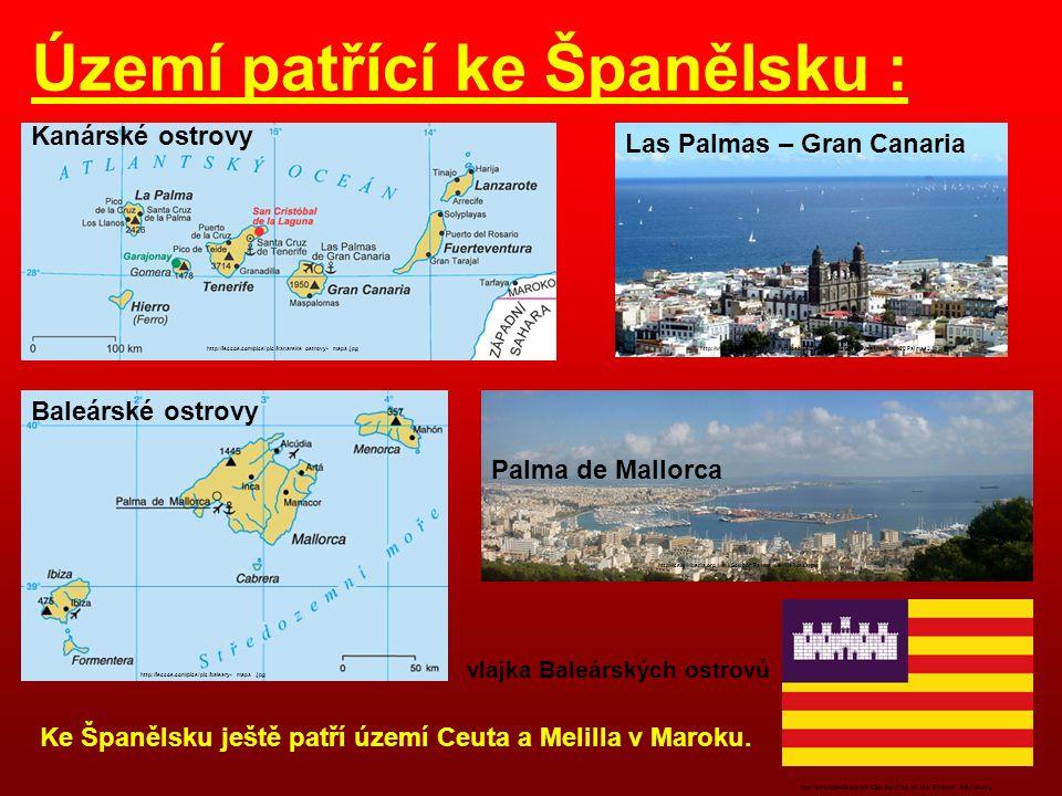 Pico de Aneto - Pyreneje http://www.alpina.cz/tc.php?src=images/zajezdy/pyreneje-prechod/pyreneje%2028.9.2006%2013-02-31.jpg&max=720x720 Mulhacen – Sierra Nevada http://www.treking.cz/treky/mulhacen2.jpg Pico de Teide – Tenerife – Kanárské ostrovy http://www.cestopisy.net/images/spanelsko/pico_de_teide/pico-de-teide-5.jpg Meseta http://mw2.google.com/mw-panoramio/photos/medium/968252.jpg