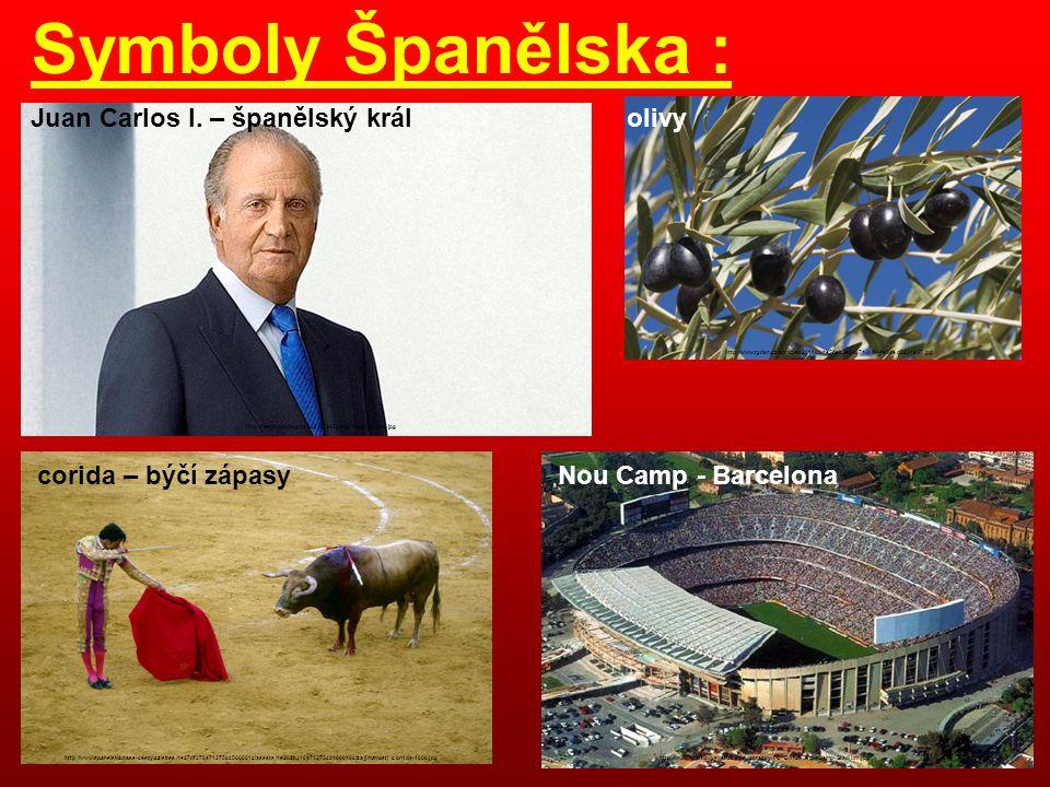 Symboly Španělska : Juan Carlos I. – španělský král http://media.novinky.cz/382/213822-top_foto1-2bqte.jpg corida – býčí zápasy http://www.spanelsko.n