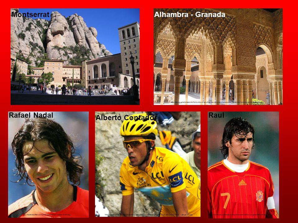 Montserrat http://www.kokopeliadventure.com/wp-content/uploads/montserrat_02.jpg Alhambra - Granada http://history-of-architecture-frank.wiki.uml.edu/