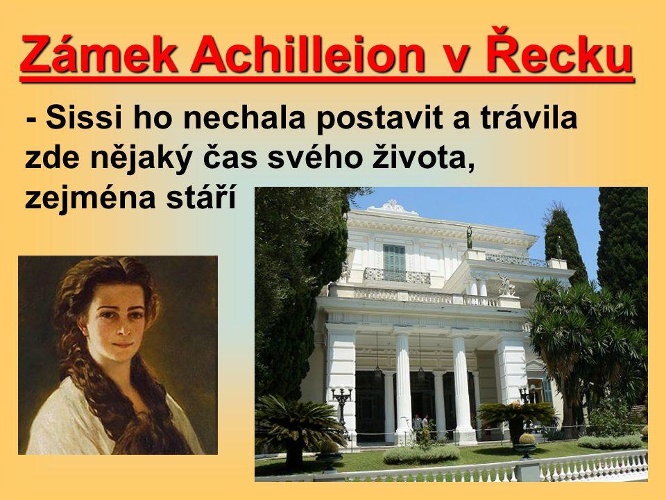 Zámek Achilleion v Řecku - Sissi ho nechala postavit a trávila zde nějaký čas svého života, zejména stáří