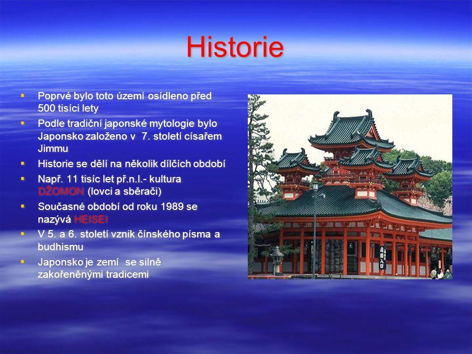 Úvod  Leží na východním okraji Asie  Sestává z mnoha ostrovů v Tichém oceánu  Největší ostrovy jsou: Hokkaidó,Honšú, Šikoku,Kjúšú  Celková rozloha: 377 835 km²  Počet obyvatel: 125 miliónů  Jazyk: japonština  Náboženství: šintoismus, budhismus  Země tradiční kultury, zvyků a tradic  Jedna z nejbohatších a nejrozvinutějších zemí na světě  Symbolem země je sopka Fudži  Leží na východním okraji Asie  Sestává z mnoha ostrovů v Tichém oceánu  Největší ostrovy jsou: Hokkaidó,Honšú, Šikoku,Kjúšú  Celková rozloha: 377 835 km²  Počet obyvatel: 125 miliónů  Jazyk: japonština  Náboženství: šintoismus, budhismus  Země tradiční kultury, zvyků a tradic  Jedna z nejbohatších a nejrozvinutějších zemí na světě  Symbolem země je sopka Fudži