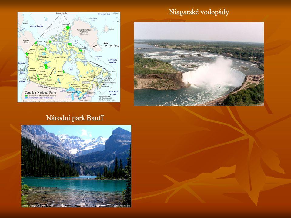 N Niagarské vodopády Národní park Banff