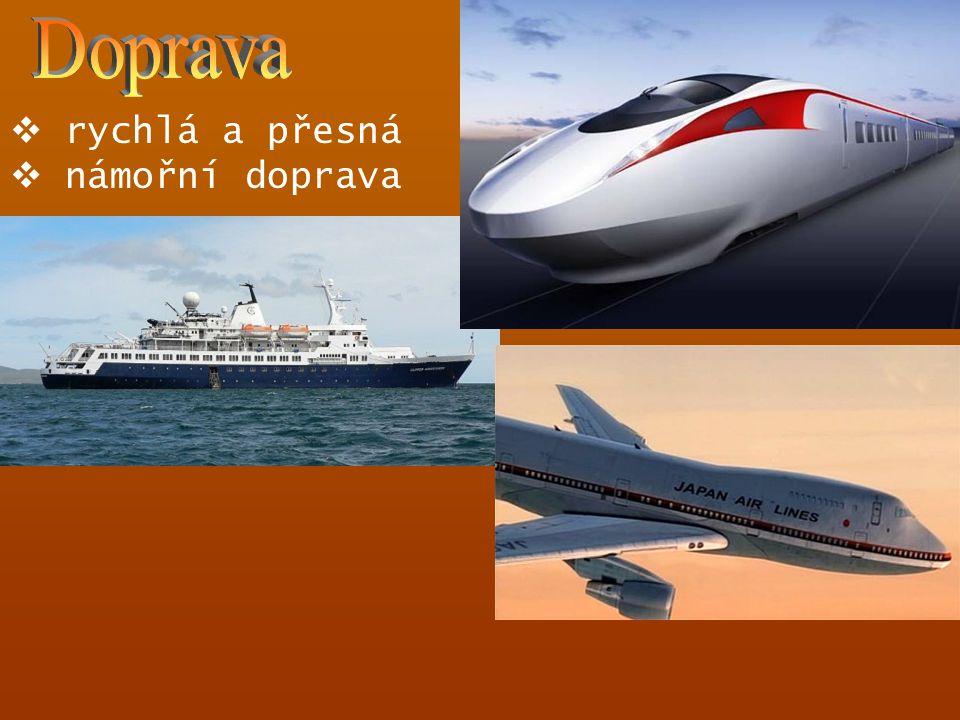  rychlá a přesná  námořní doprava