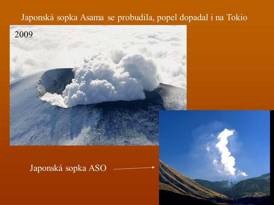 Japonská sopka Asama se probudila, popel dopadal i na Tokio 2009 Japonská sopka ASO