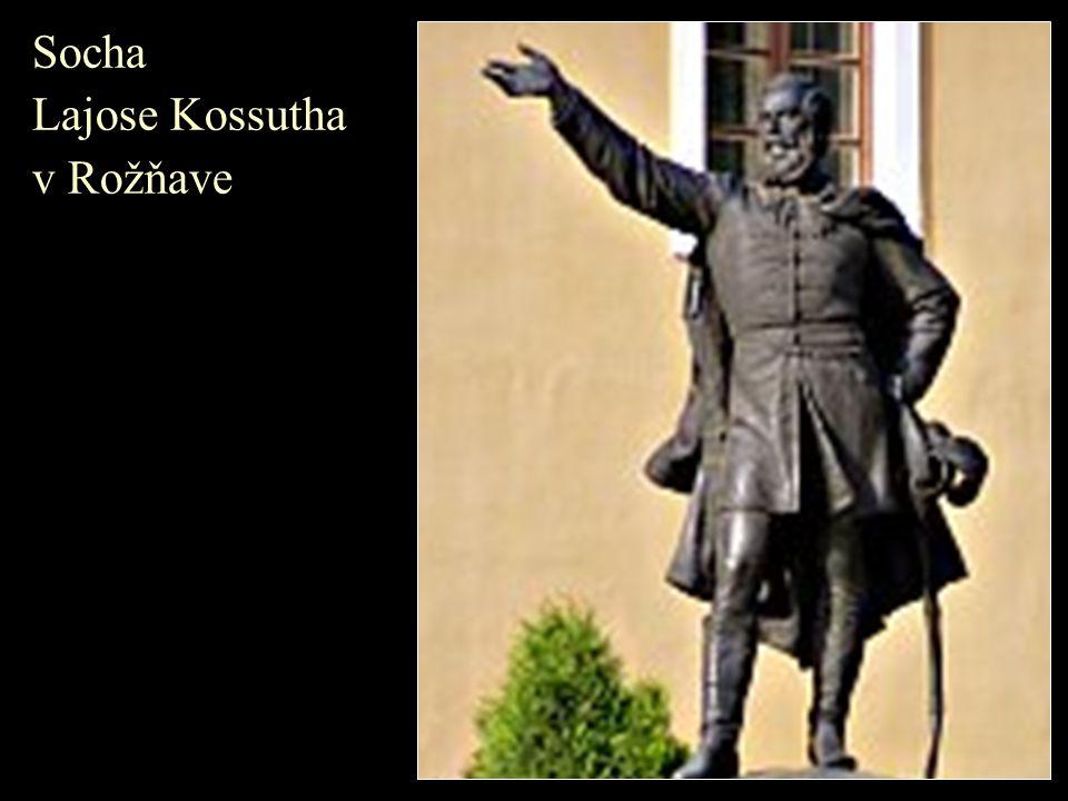 Socha Lajose Kossutha v Rožňave
