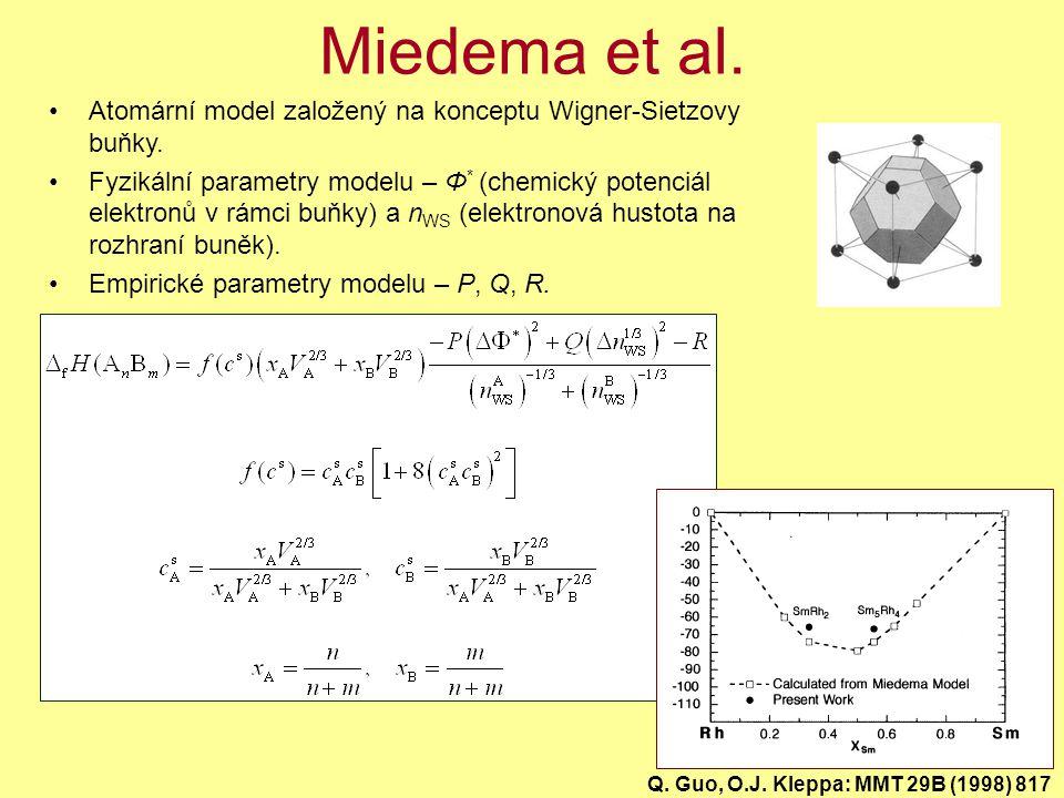 Miedema et al. Atomární model založený na konceptu Wigner-Sietzovy buňky.