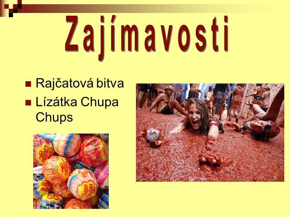 Rajčatová bitva Lízátka Chupa Chups