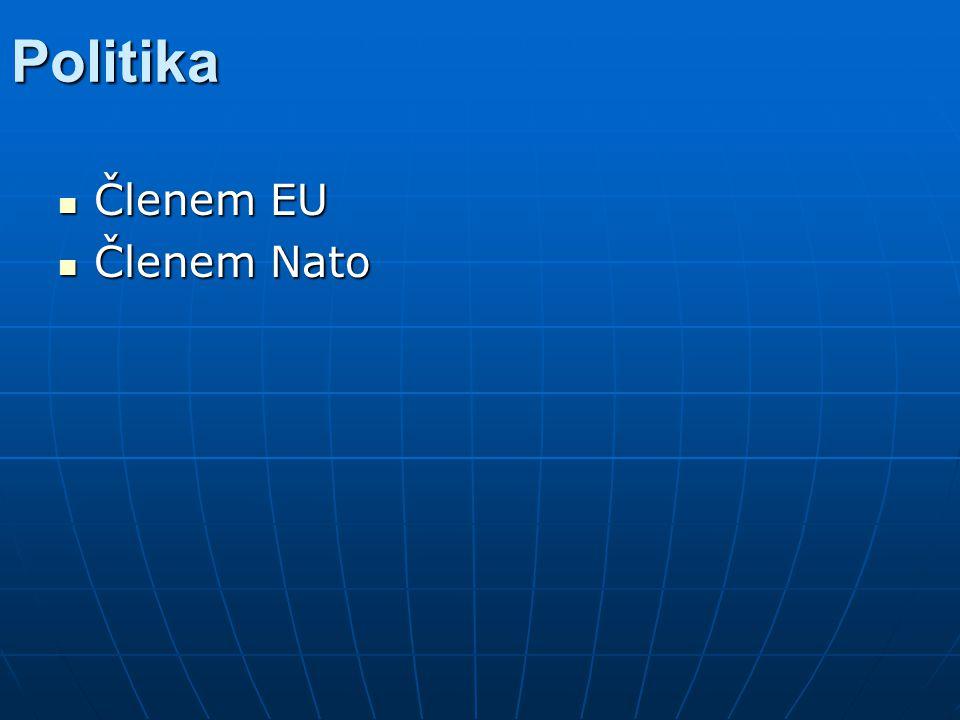Politika Členem EU Členem EU Členem Nato Členem Nato