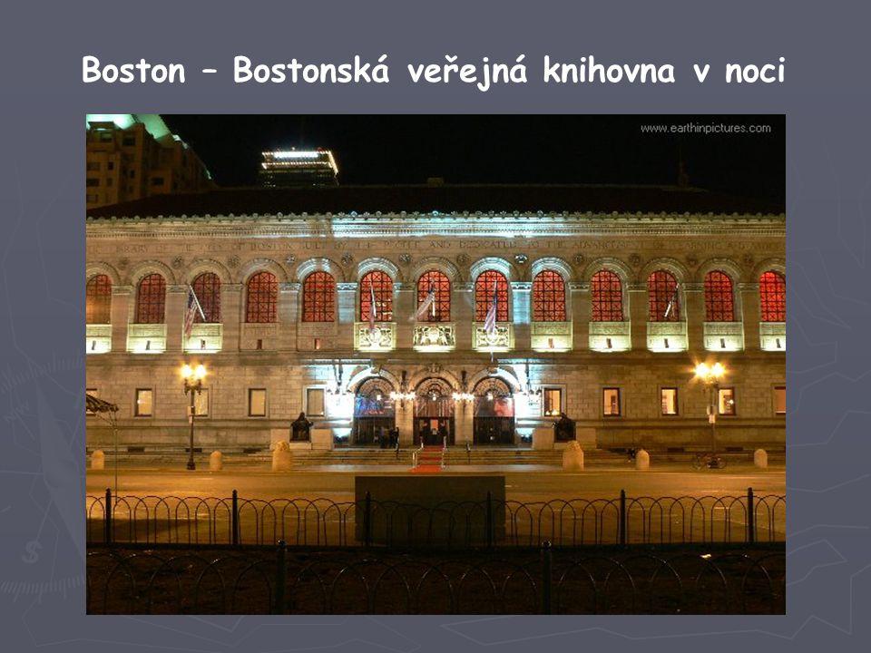 Boston – Bostonská veřejná knihovna v noci