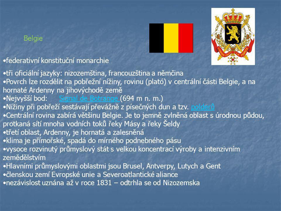 Základní informace: Hlavní město: Brusel (Brussel, Bruxelles, Brüssel) Rozloha: 30 529 km² (146.