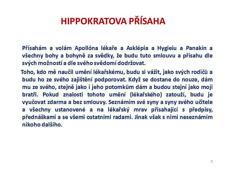 Hippokratova přísaha na byzantském svitku ze 12. století vepsáno do tvaru kříže 8