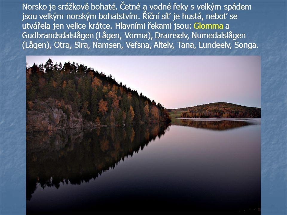 Norsko je srážkově bohaté. Četné a vodné řeky s velkým spádem jsou velkým norským bohatstvím. Říční síť je hustá, neboť se utvářela jen velice krátce.