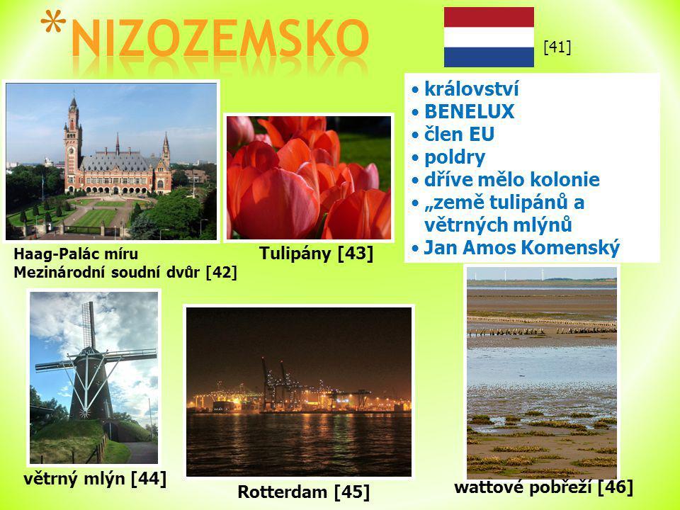 """Haag-Palác míru Mezinárodní soudní dvůr [42] království BENELUX člen EU poldry dříve mělo kolonie """"země tulipánů a větrných mlýnů Jan Amos Komenský vě"""