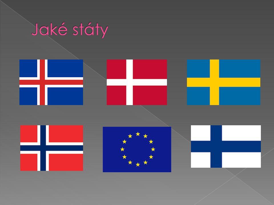 Island Dánsko Švédsko Norsko Finsko Evropská Unie