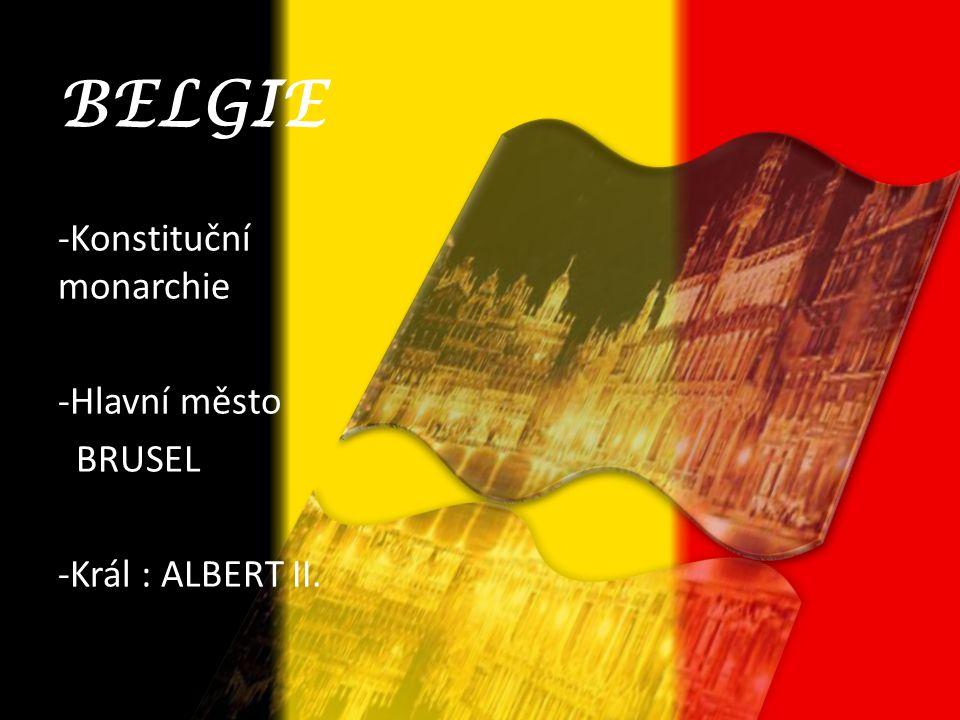 BELGIE -Konstituční monarchie -Hlavní město BRUSEL -Král : ALBERT II.