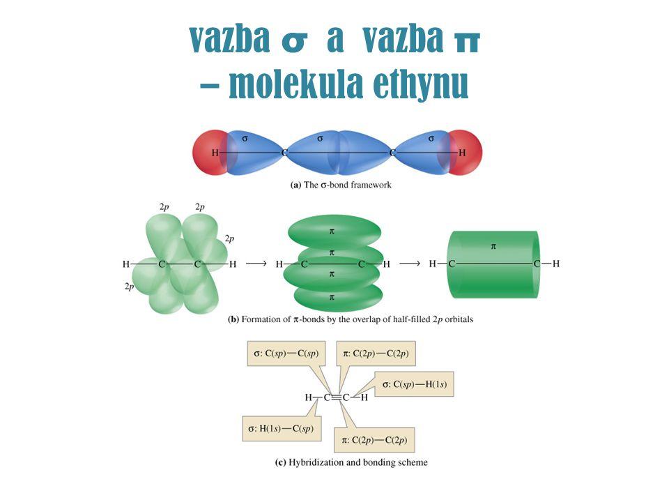 TROJNÁ VAZBA vazba σ a 2 vazby π