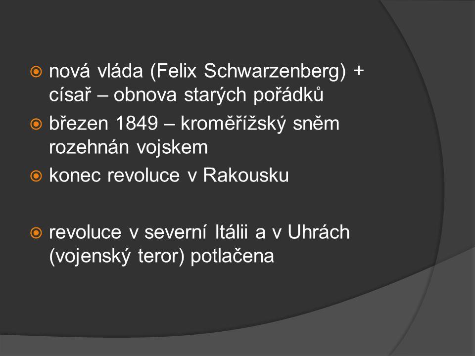 Výsledky a důsledky revoluce  vojensky potlačena  české země zůstaly součástí centralizované říše  přeměna v konstituční monarchii se nezdařila  zrušení roboty a poddanství  vrchnost ztratila výsady