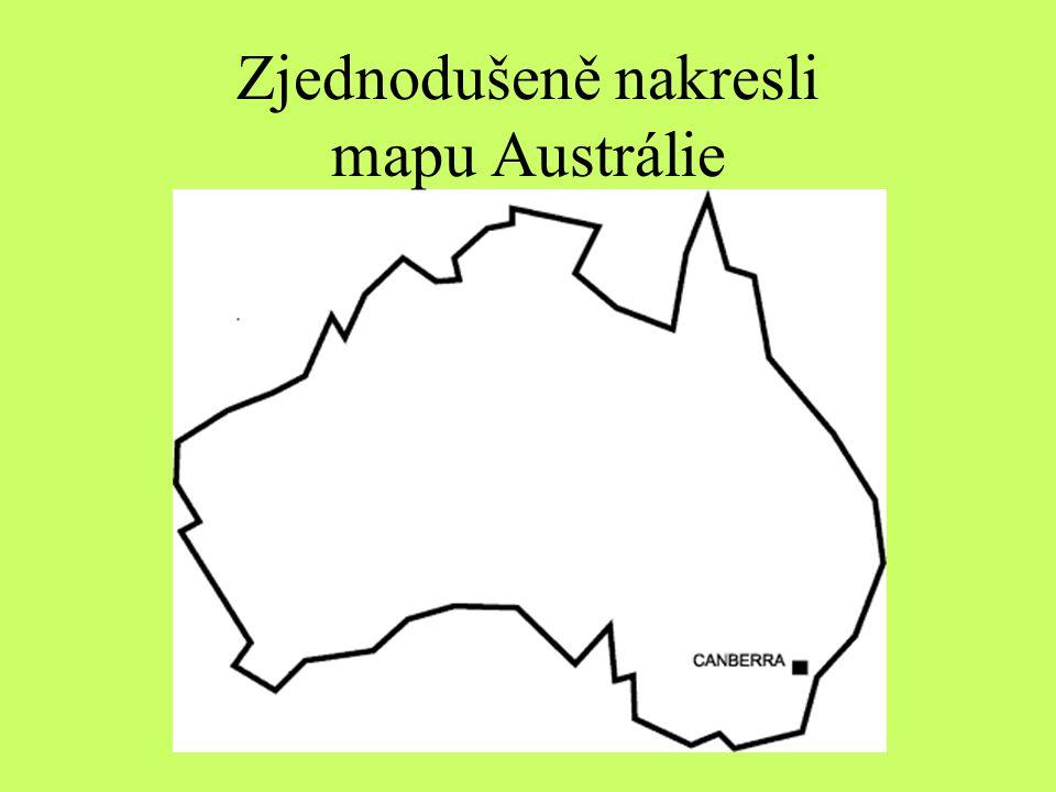OD TOOLS Zjednodušeně nakresli mapu Austrálie