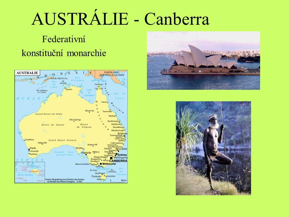AUSTRÁLIE - Canberra Federativní konstituční monarchie