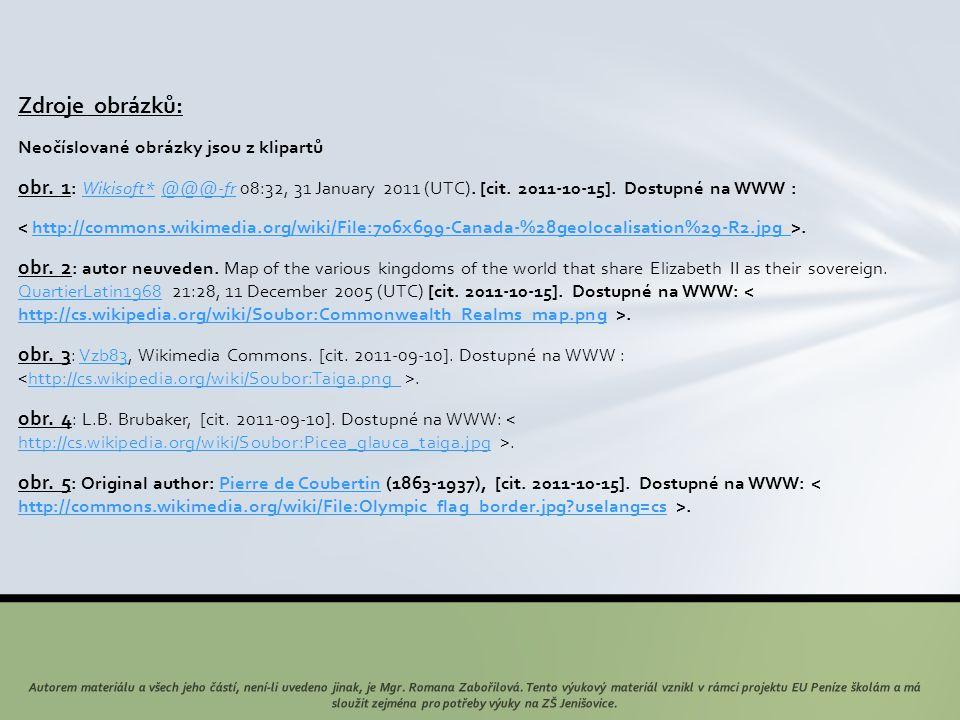 Zdroje obrázků: Neočíslované obrázky jsou z klipartů obr. 1 : Wikisoft* @@@-fr 08:32, 31 January 2011 (UTC). [cit. 2011-10-15]. Dostupné na WWW :Wikis