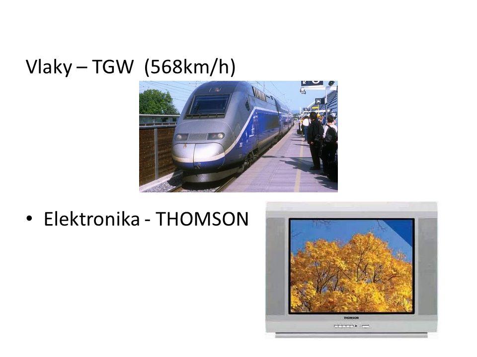 Vlaky – TGW (568km/h) Elektronika - THOMSON