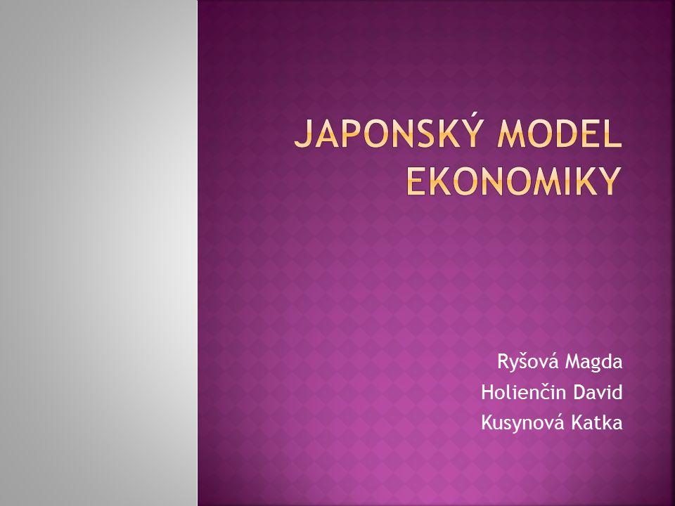 """ Hlavní politicko-ekonomické a historické daty Japonska  Fenomén japonské ekonomiky  Japonská ekonomika dnes  Negativní body japonského modelu""""  Závěr"""