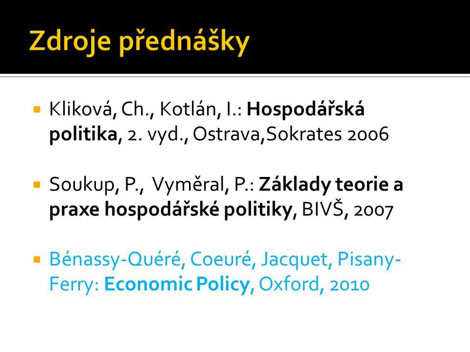  Kliková, Ch., Kotlán, I.: Hospodářská politika, 2.