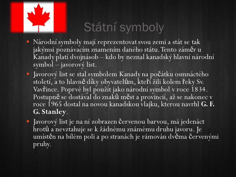 Státní symboly Národní symboly mají reprezentovat svou zemi a stát se tak jakýmsi poznávacím znamením daného státu.