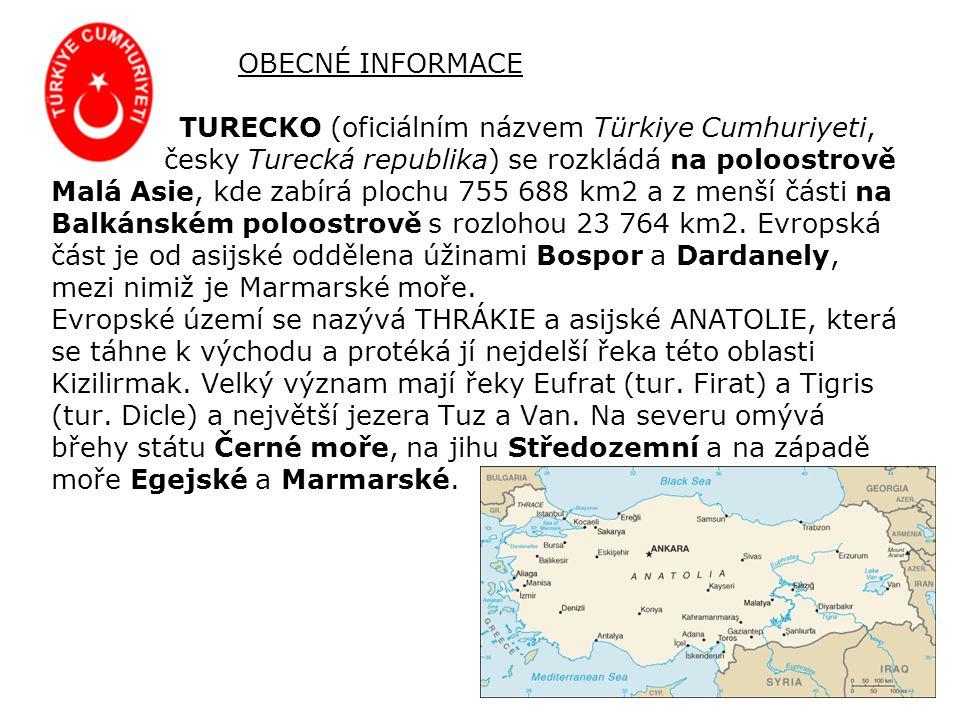 Na evropské pevnině sousedí Turecko s Bulharskem a Řeckem.