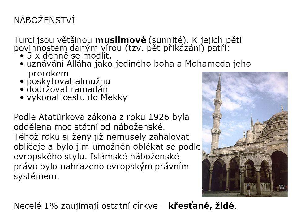 POUŽITÉ ZDROJE: Sopouch, Jaromír: TURECKO-průvodce do zahraničí.